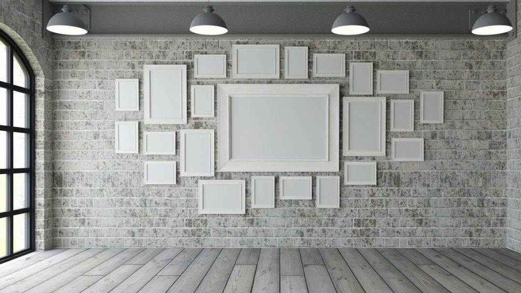 ramki ozdoby ściany w domu