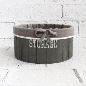 koszyk dekoracyjny drewniany duży
