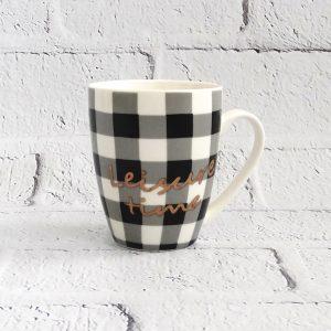 kubek ceramiczny biało-czarny