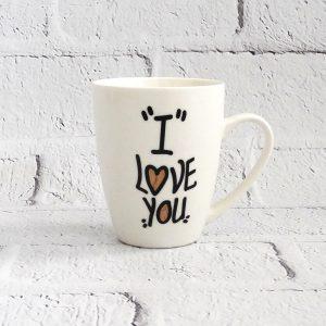 kubek ceramiczny biały z napisem