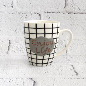kubek ceramiczny z napisem Enjoy Life