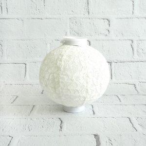 Lampion papierowy koronkowy żarówka LED