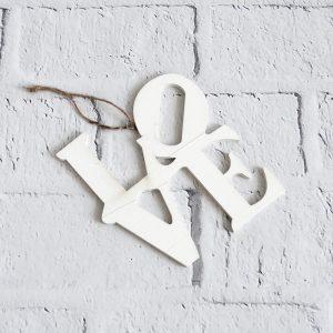 napis drewniany love wiszący zawieszka