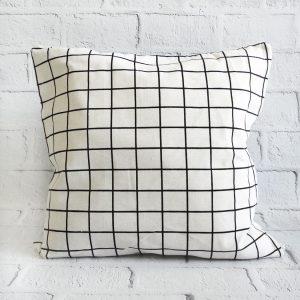 poszewka dekoracyjna na poduszkę biała krata
