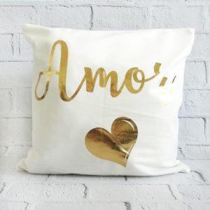 poszewka dekoracyjna do poduszki biała złota