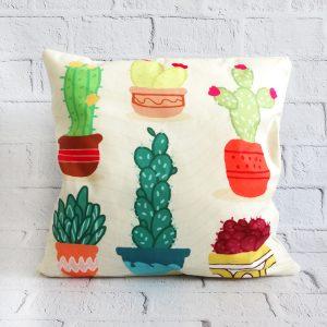 poszewka dekoracyjna kaktusy