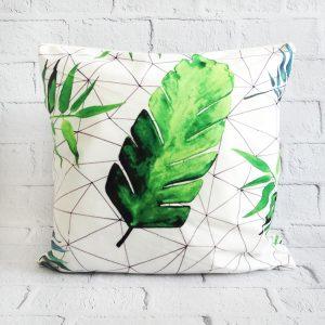 poszewka na poduszkę liść tropikalne