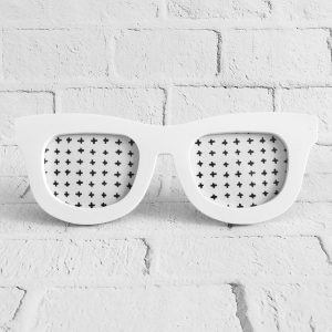 ramka na zdjęcia okulary biały