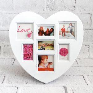 ramka na zdjęcia serce białe