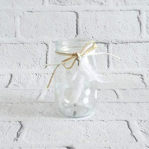 świecznik szklany na podgrzewacze słoik