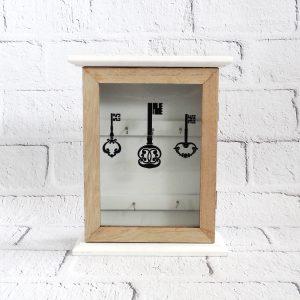 skrzynka na klucze drewniana organizer