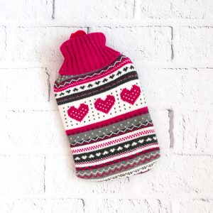 Termofor gumowy w sweterku kolorowy