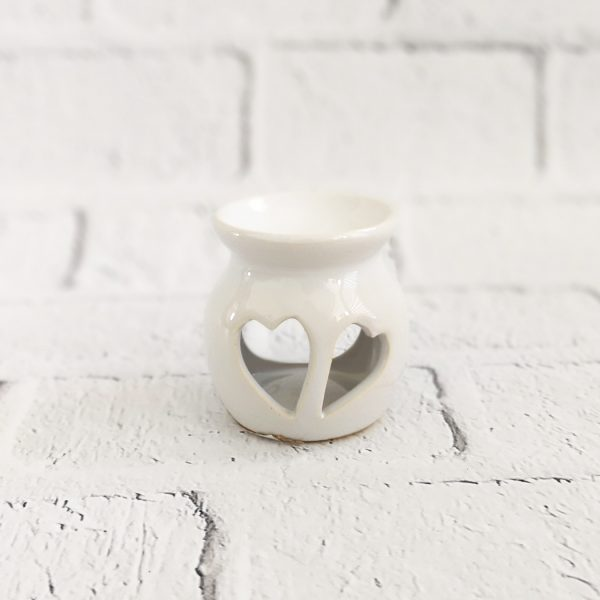 kominek ceramiczny na wosk serca