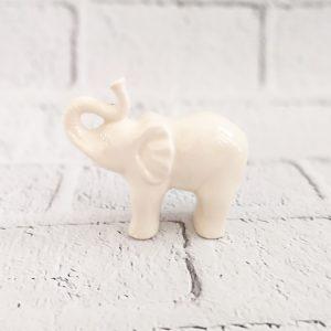 Słoń - figurka ceramiczna biała