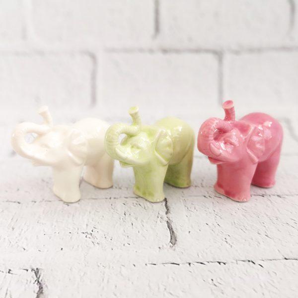 słonie figurki ceramiczne