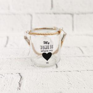 Lampion szklany ze sznurkiem