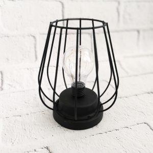 Lampka metalowa czarna LED
