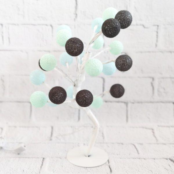 Lampka LED drzewo cotton balls