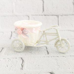 Osłonka na doniczkę - rower ozdobny