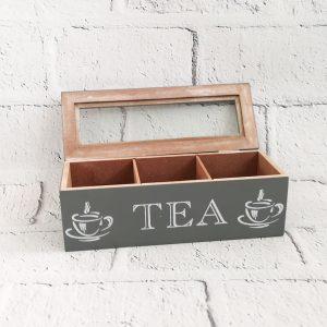 Pojemnik drewniany na herbatę