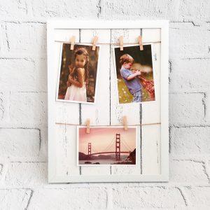 Ramka na zdjęcia z klamerkami